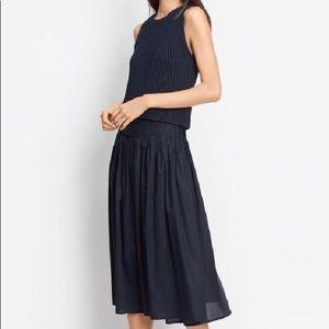 Vince Navy mid length skirt